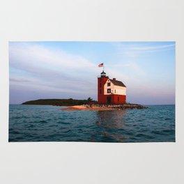 Round Island Lighthouse Rug