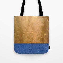 Copper Metallic With Tuscan Blue Stripe Trim Tote Bag