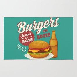 Burgers and Booze Rug
