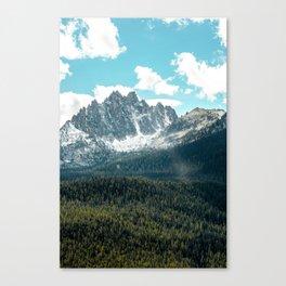 Sawtooth Mountains Canvas Print