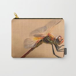 Painted Dragonfly Isolated Against Ecru Carry-All Pouch
