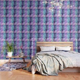 Magical Forest Lavender Aqua Teal Ombre Wallpaper