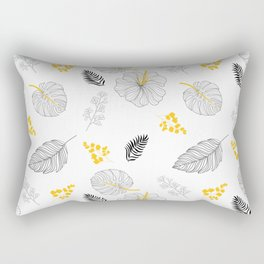 Leaves Pattern Rectangular Pillow