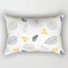 Leaves Pattern Rectangular Pillow