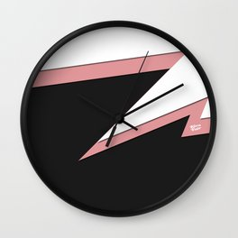 FLASH #pink #black #minimal #art #design #kirovair #buyart #decor #home Wall Clock
