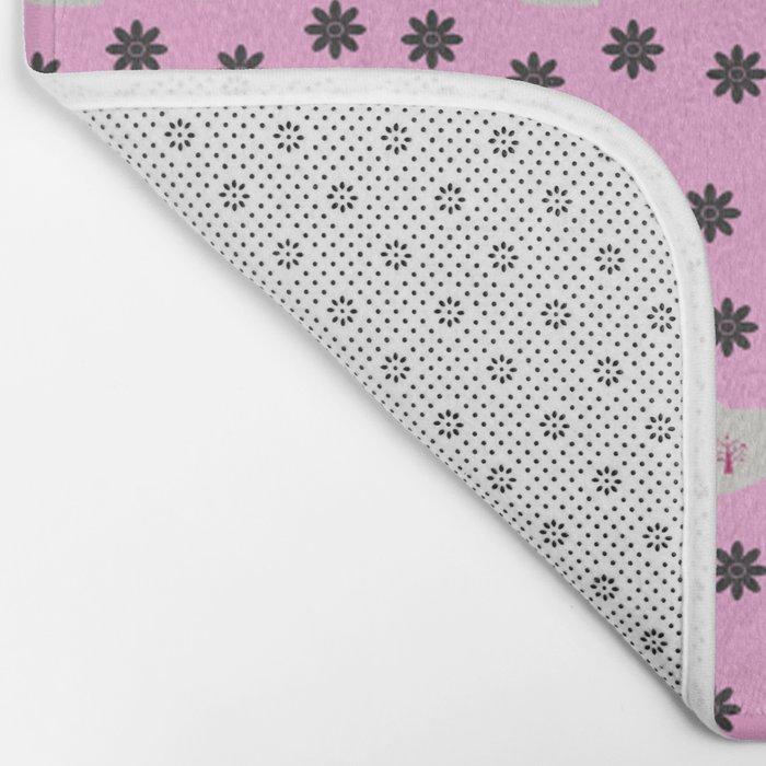 deer boots pink grey Bath Mat