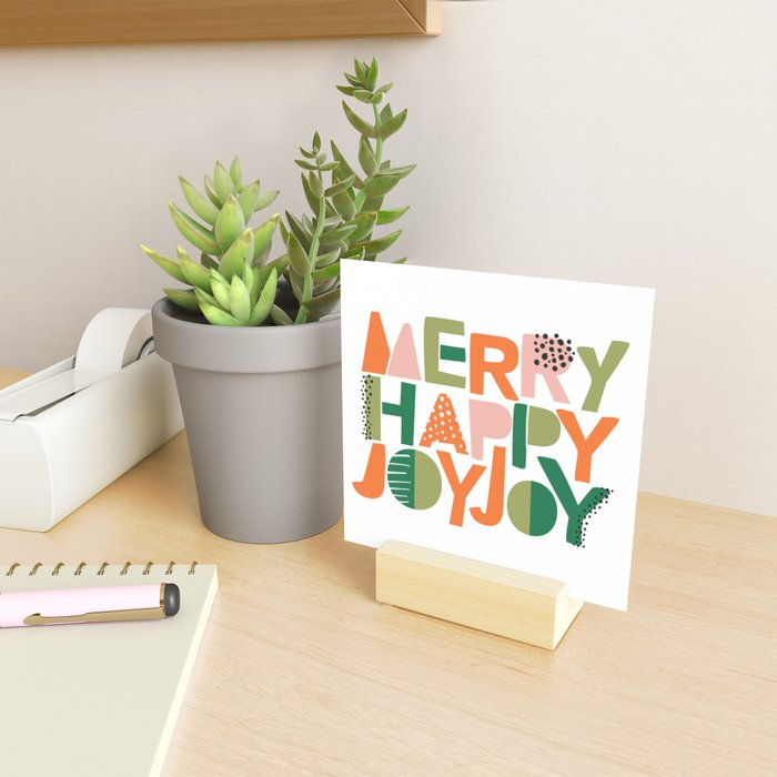 Merry Happy Joy Joy Mini Art Print