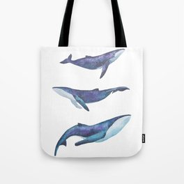 Three big space whales illustration Tote Bag