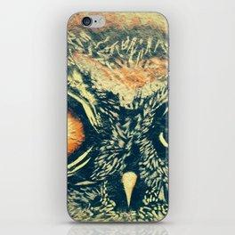 Buho owl animal graffiti drawing iPhone Skin