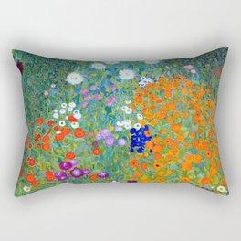 Gustav Klimt Flower Garden Rectangular Pillow