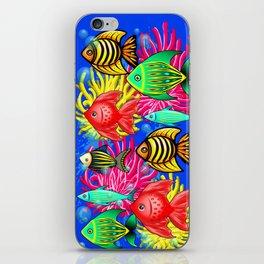 Fish Cute Colorful Doodles iPhone Skin