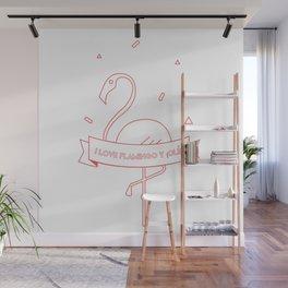 i love flamingo y ¡olé! Wall Mural