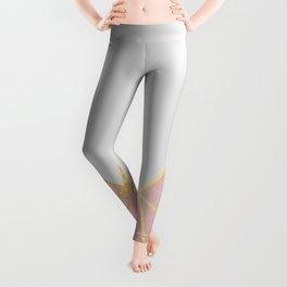 Pink & Gold Geometric Leggings