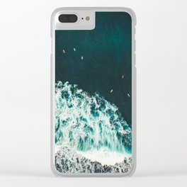 WAVES - OCEAN - SEA - WATER - COAST - PHOTOGRAPHY Clear iPhone Case