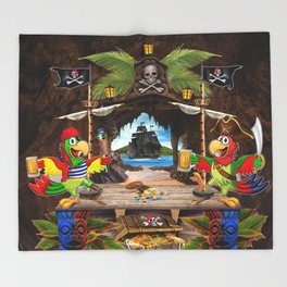 Pirates Cove Throw Blanket