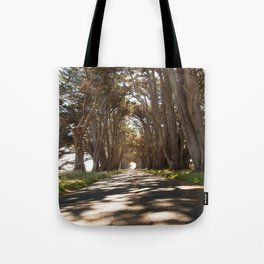 Tunnel of Trees Photography Print Tote Bag