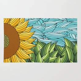 SUNNY DAY (abstract flowers) Rug