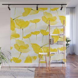 Light Yellow Poppies Spring Summer Mood #decor #society6 #buyart Wall Mural
