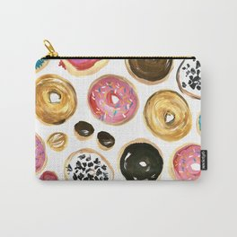 Colorful donuts with sprinkles Carry-All Pouch
