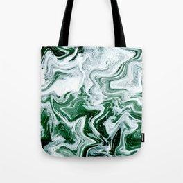 Green Ocean Marble Tote Bag