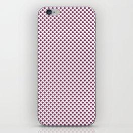 Boysenberry Polka Dots iPhone Skin