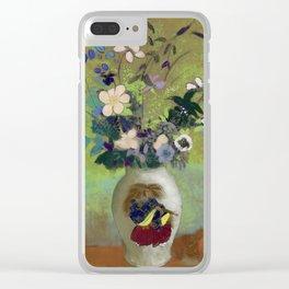 """Odilon Redon """"Vase Au Guerrier Japonais"""" Clear iPhone Case"""