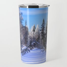 Frozen river Travel Mug