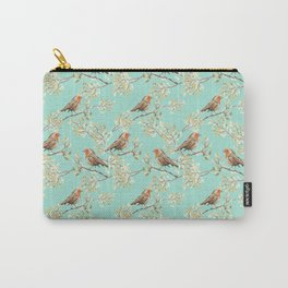 Vintage Redbreast Robin Pattern Carry-All Pouch