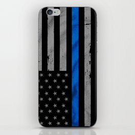 Thin Blue Line iPhone Skin