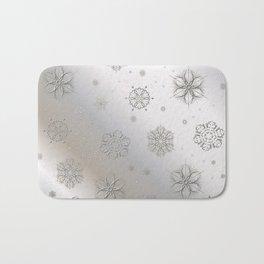 Snow and Silver Bath Mat