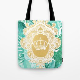 Tropical Leaf Crown Tote Bag