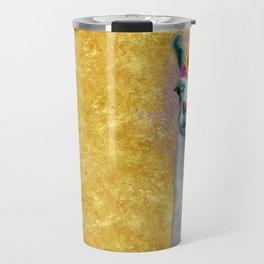 Flower Power Llama Travel Mug