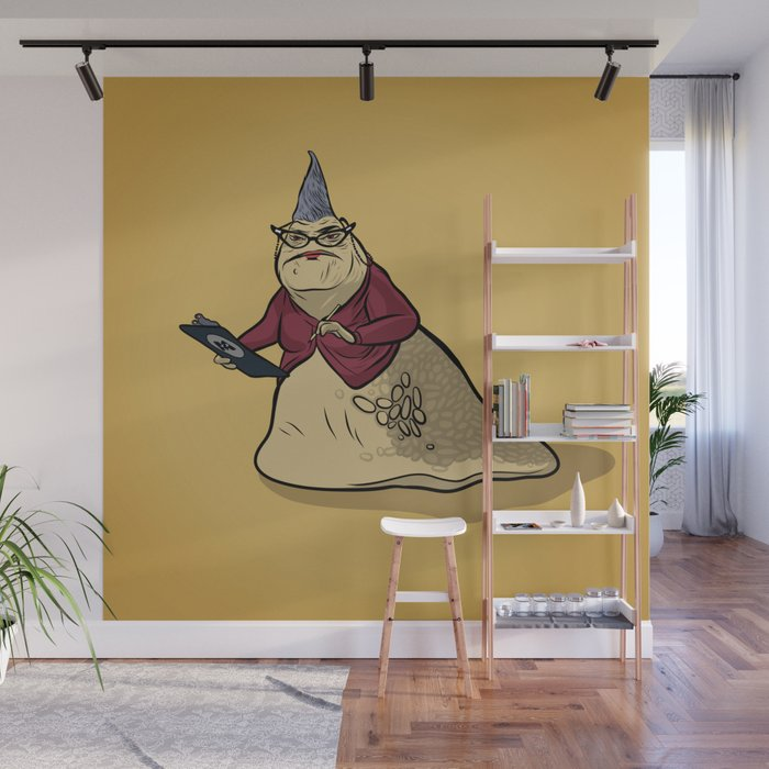 Monsters, Inc. | Roz Wall Mural by bravetigerdesigns | Society6