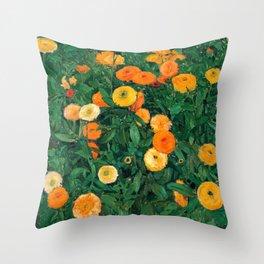 Marigolds by Koloman Moser, 1909 Throw Pillow