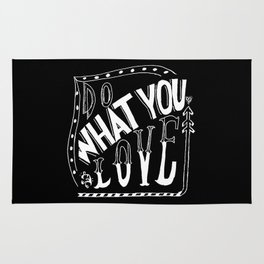 Do What You Love - LETTERING QUOTE Rug