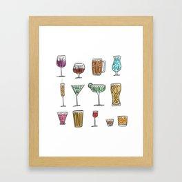Bar Glasses Framed Art Print