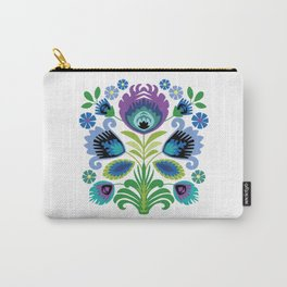 Polish Folk Flowers Purple Carry-All Pouch