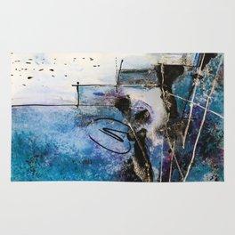 Midnight Sky, Acrylic artwork Rug