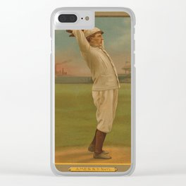 Vintage Backyard Baseball Player - Ames NY Clear iPhone Case
