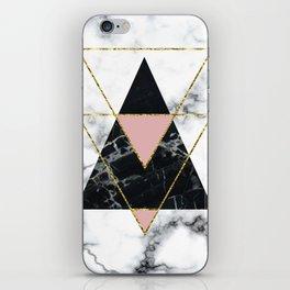 Geo glam marble iPhone Skin