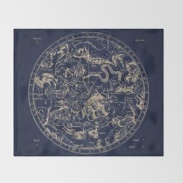 Gold Ceiling | Zodiac Skies Throw Blanket