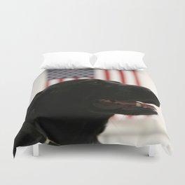All-American Black Labrador Duvet Cover