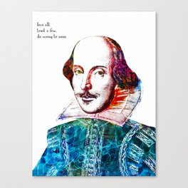 Graffitied Shakespeare Canvas Print