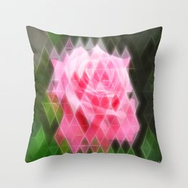 Pink Roses in Anzures 4 Art Triangles 2 Throw Pillow