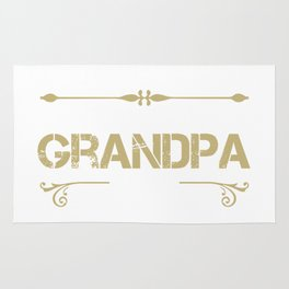 World's Best Grandpa Ever - Cool gift for G-PA Rug