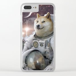 Very Astronaut Clear iPhone Case