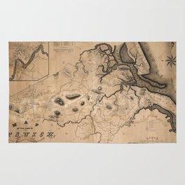 Map of Ipswich 1832 Rug
