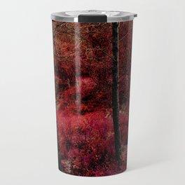 Red forest landscape electric alien Travel Mug