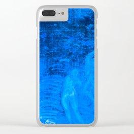 In liquid Indigo Clear iPhone Case