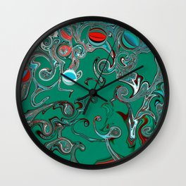 Dancing in the Ocean Wall Clock